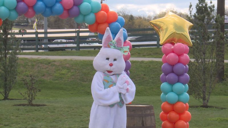 Even though the kids can't look for the eggs and hug the Easter bunny like they usually have...
