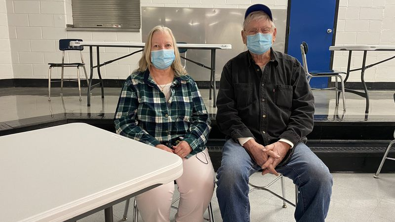Brodhead couple Sharon and Michael Kemper have been staying at the warming center in Rockcastle...