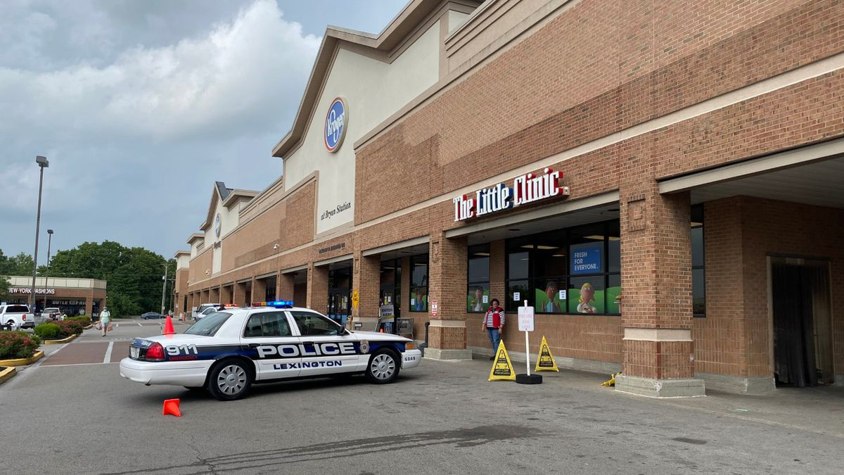 Lexington Police were at Kroger on Bryan Station Road where they got a call about an assault with a weapon.