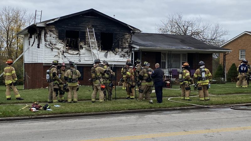A Lexington man's home went up in flames Thanksgiving morning.