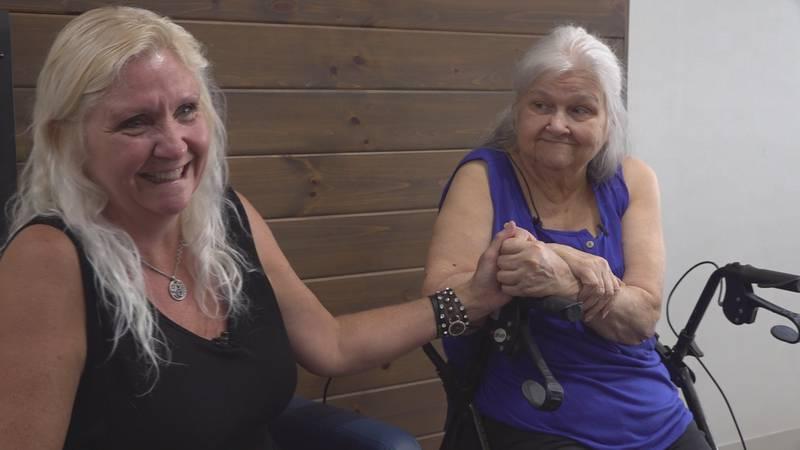 Deborah Lee (left) and her mother Vivian Leslie were reunited Friday after almost 63 years apart.