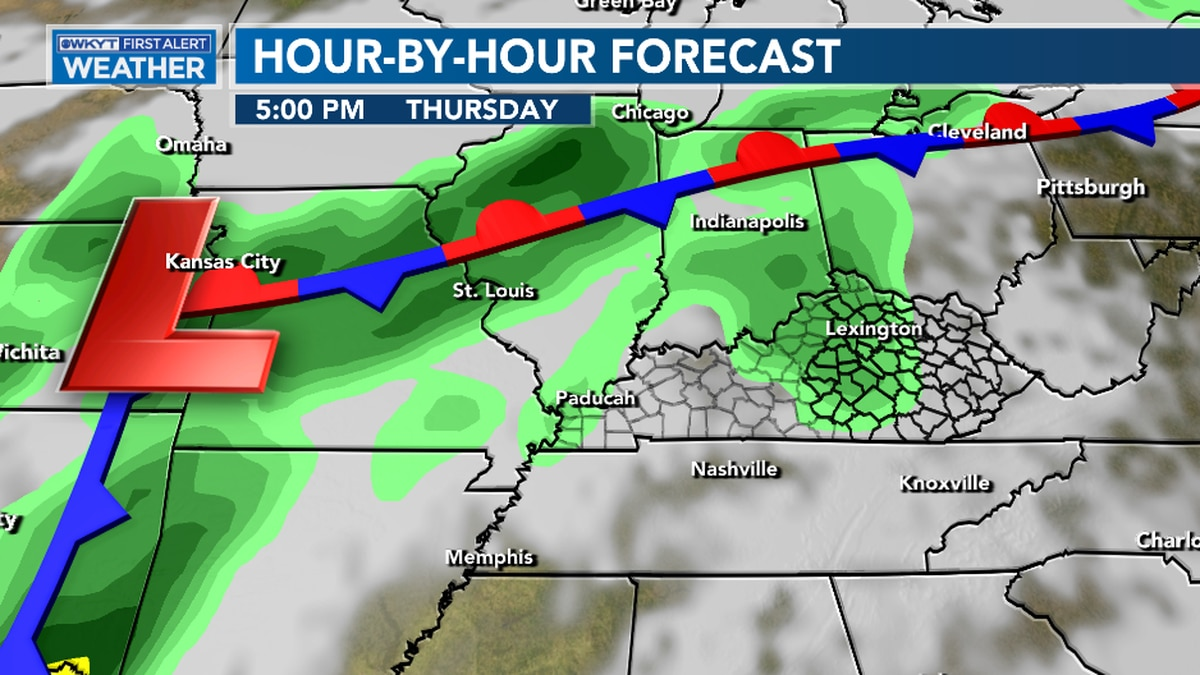 More rounds of showers & storms arrive for the end of the week
