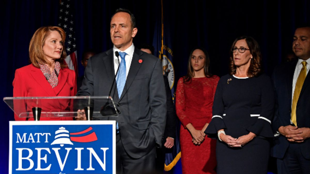Gov. Matt Bevin's campaign has officially requested a recanvass after the general election. (AP Photo/Timothy D. Easley)