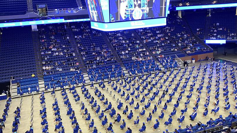 The University of Kentucky is holding ten separate graduation ceremonies Friday through Sunday.