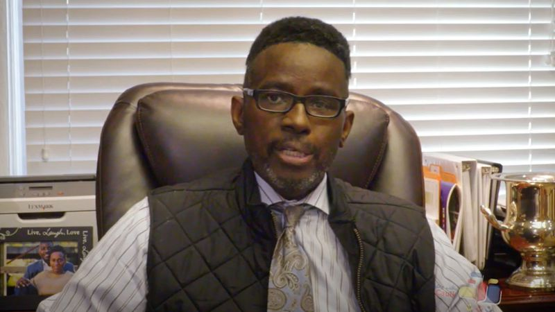 Fayette County Superintendent Manny Caulk during an episode of 'Talks with Caulk' on Oct. 7, 2020