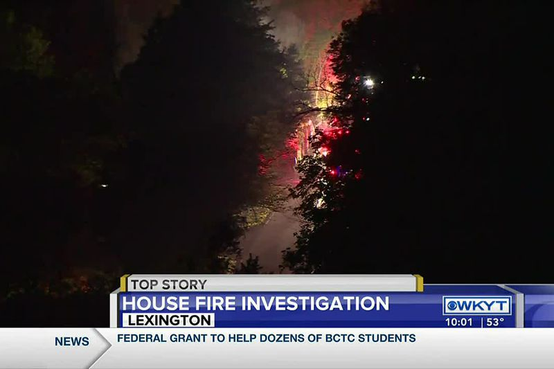 Lexington police look for man after overnight fire