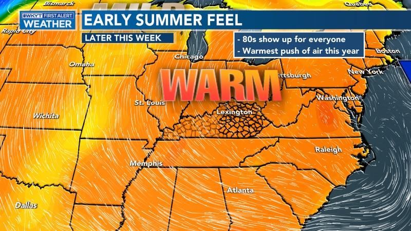 Temperatures will blast across Kentucky
