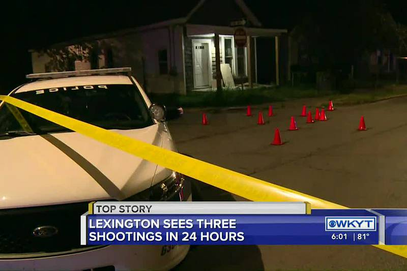 Lexington Police responded to three shootings on Saturday that left seven people with injuries...