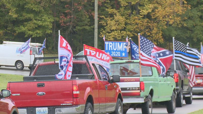 The Trump Parade traveled around New Circle Road on Sunday.