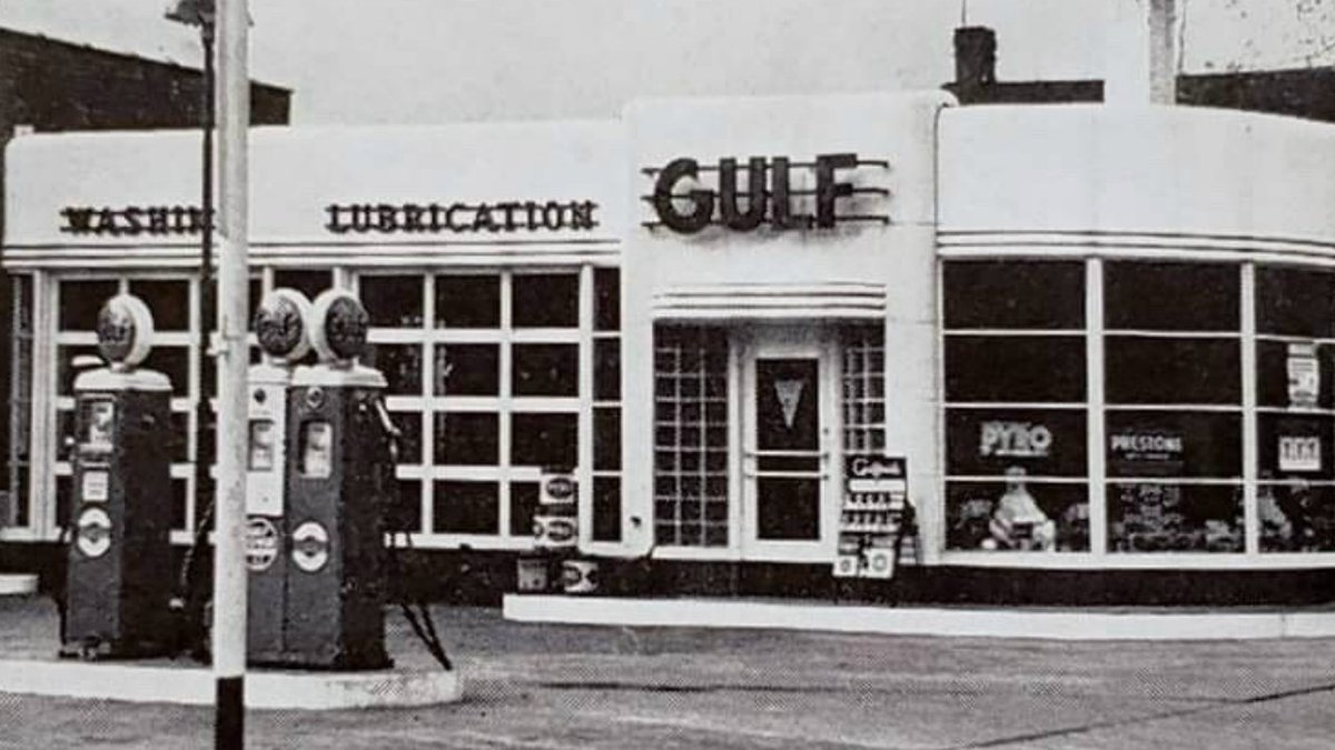 Submitted Photo: A Gulf gas station in Lexington from the 1940s.