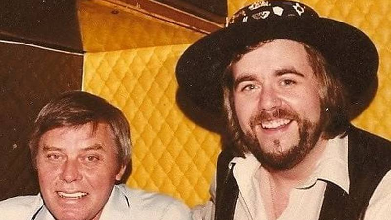 Karl Shannon (right) pictured with singer-songwriter Tom T. Hall. Shannon first met Hall back...