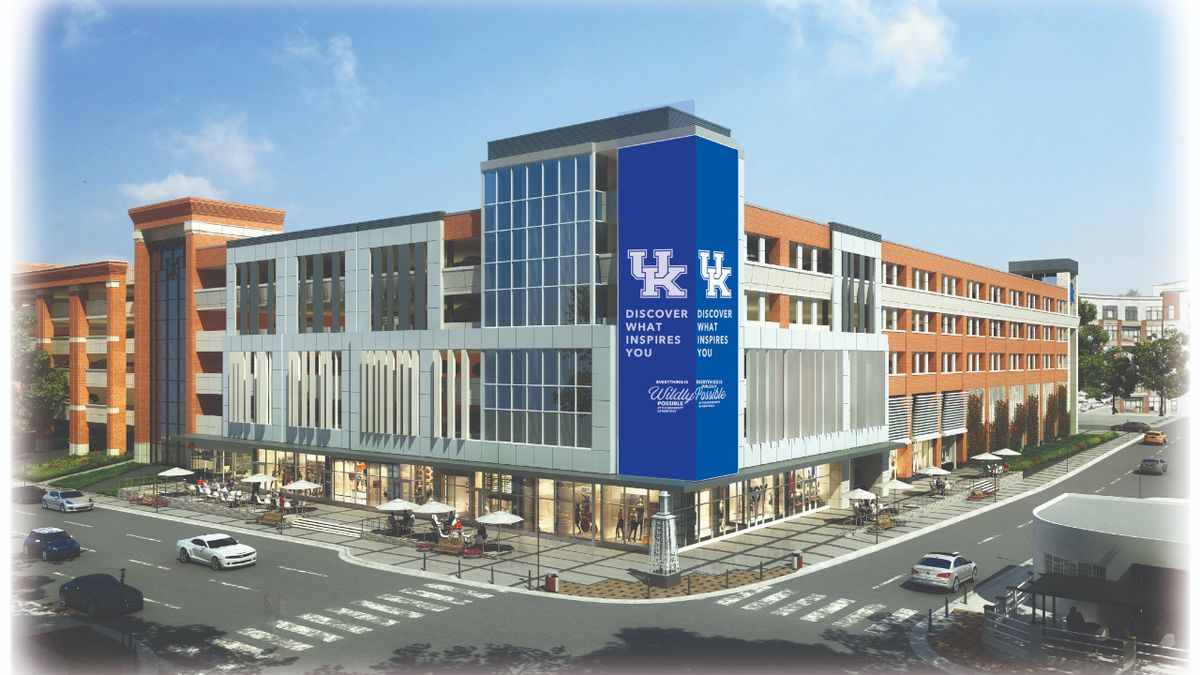 An artist's rendering of the development under construction at Winslow Street and South Limestone. (Photo: University of Kentucky)