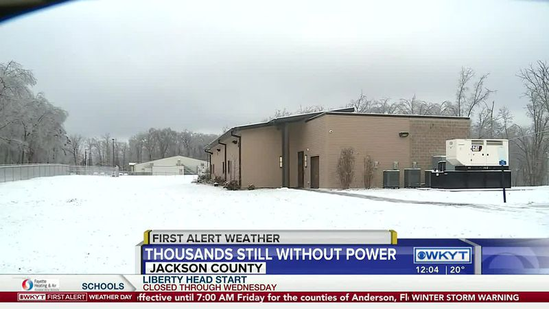 Jackson County still struggling with power outages as next round of wintry weather looms