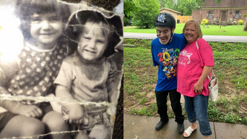 Two siblings are making up for lost time after spending decades apart. Priscilla Triplett says...