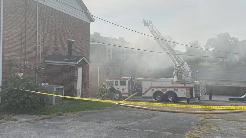 The fire happened at an apartment building on Leawood Drive.