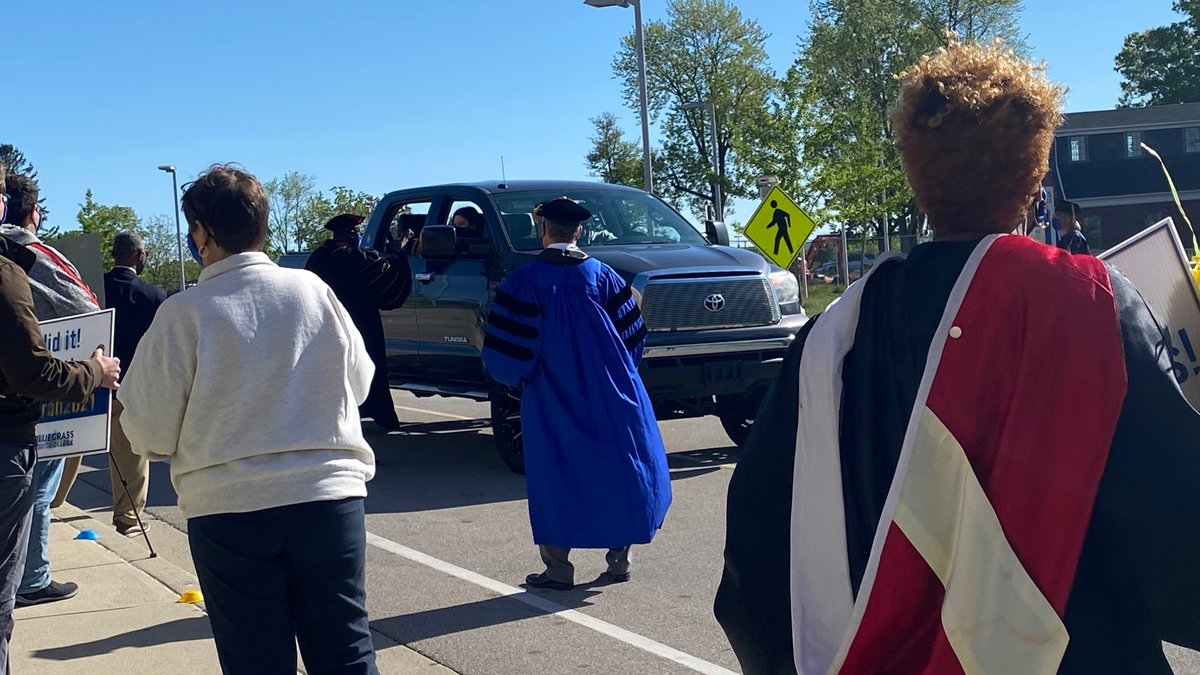 More than 2,000 graduates got their diplomas from their vehicles as part of the ceremony.