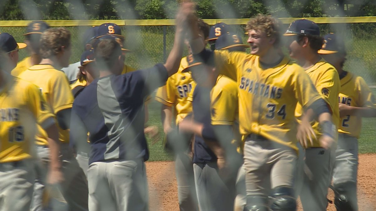 The Sayre Spartans used a 7th inning rally to claim the school's first 42nd district baseball...