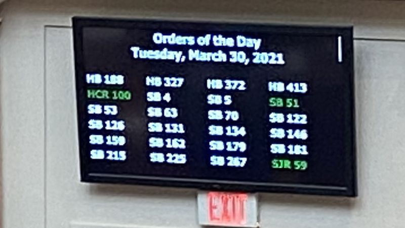 Tuesday, more than 20 bills remain on the House orders of the day, but just a couple remain in...