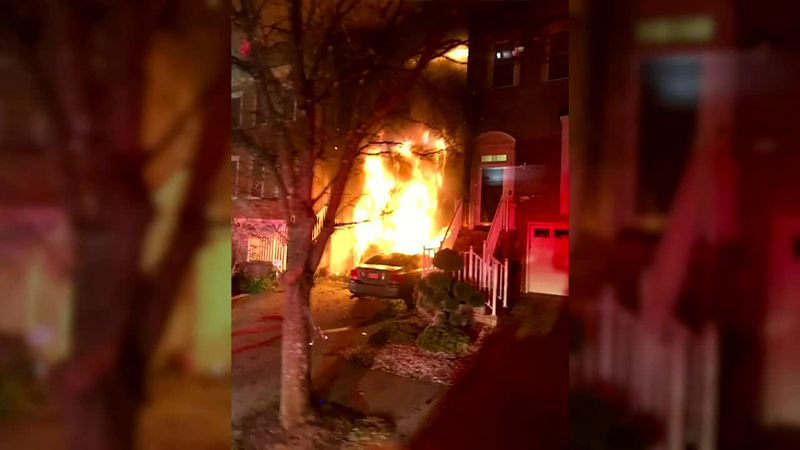It took 85 firefighters to put out the flames before the fire could destroy the neighboring...