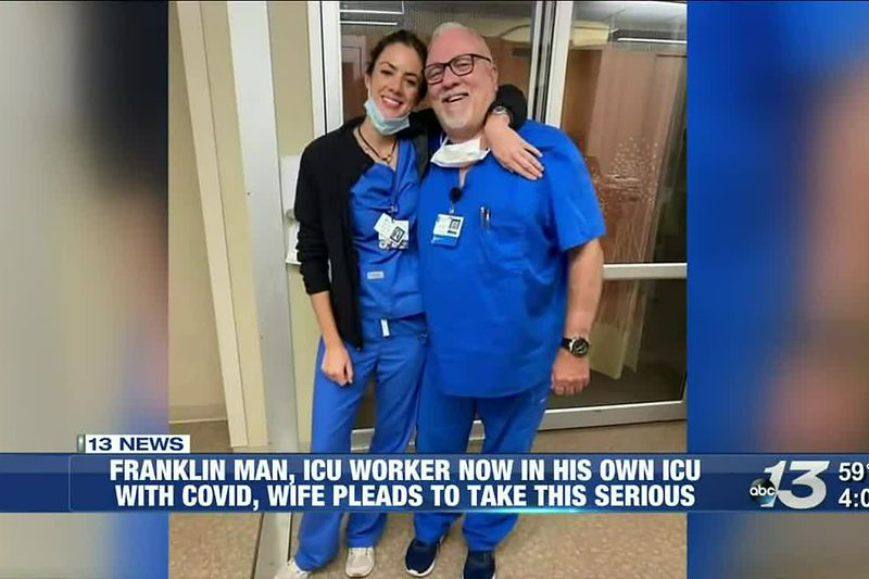 A prayer and a vow: ICU nurse battles COVID-19 as wife renews vows, his team prayers