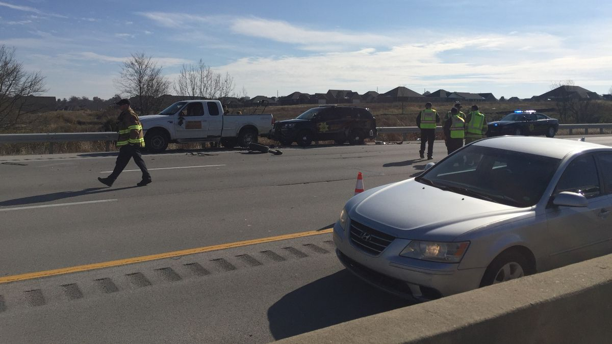 Kentucky State Police say a Madison County sheriff's deputy is involved in the crash. (Photo: WKYT/Megan James)
