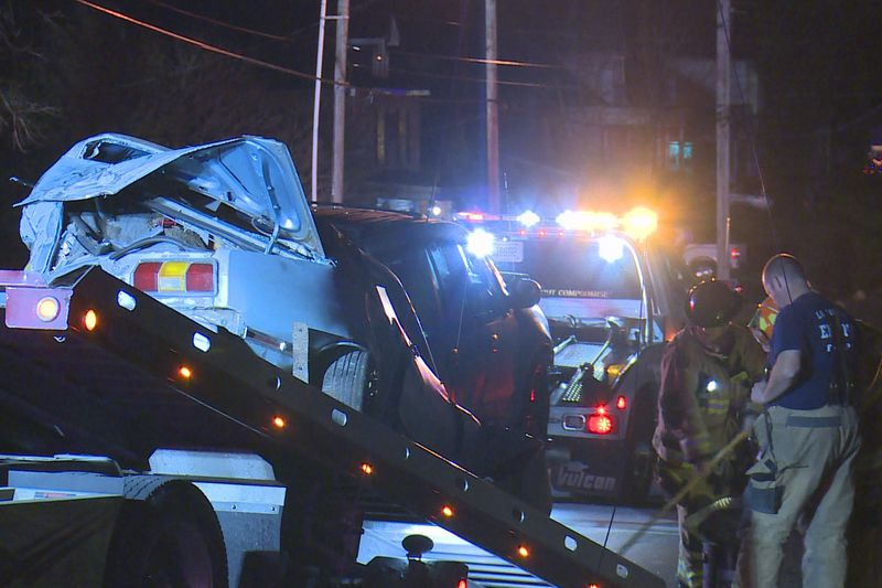 Both lanes of Loudon Avenue were closed for a time after the crash.