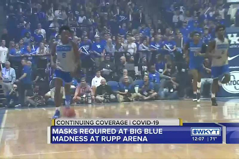 Masks required for fans in Rupp Arena at Big Blue Madness
