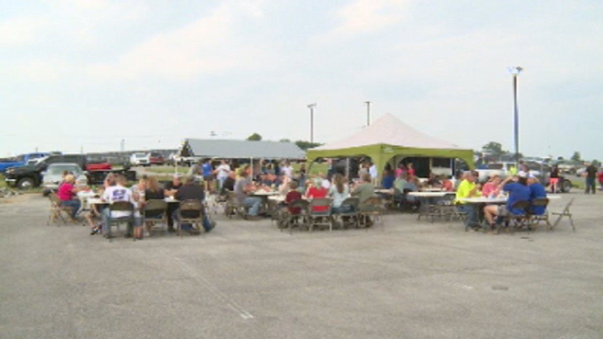 Nicholas County flood victims and first responders enjoyed a cookout at the Carlisle National...