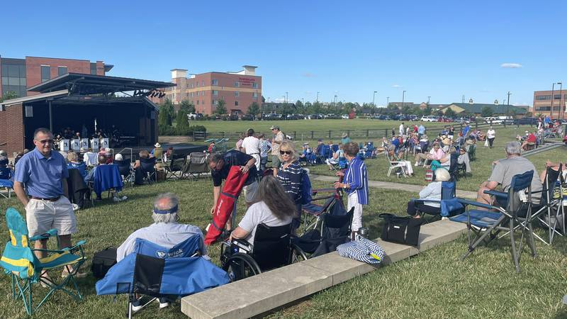 A small crowd gathered at the Moondance Amphitheater to watch the Big Band and Jazz Patriotic...