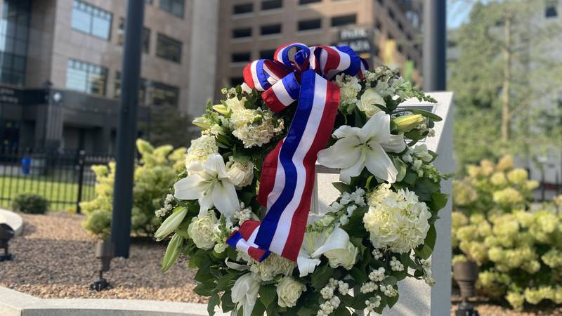 Lexington firefighters honored victims of 9/11 Saturday.