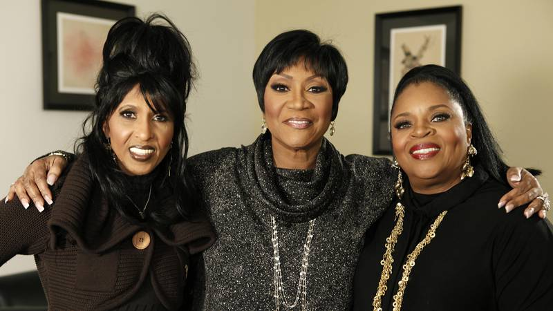 FILE - Nona Hendryx, from left, Patti LaBelle, and Sarah Dash, of the group LaBelle, pose for a...