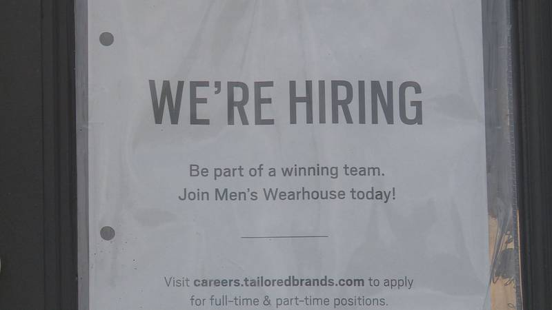 The Men's Wearhouse in Hamburg is curbside due to a lack of staff.