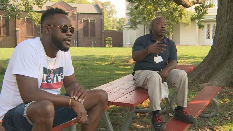 Demetrius Gill and Sharod Clay call on the community to talk about ways to end youth violence.