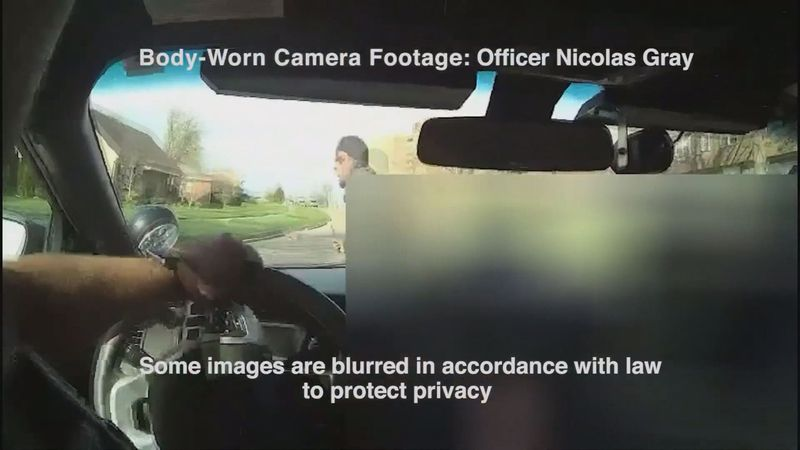 The video from Ofc. Nicolas Gray's camera shows him driving in his cruiser to respond to the...