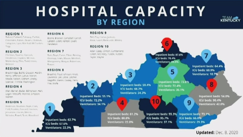 State leaders are keeping a close eye on hospital capacities across the state.