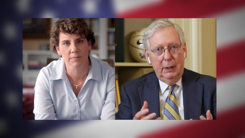 Senator Mitch McConnell has challenged Amy McGrath to a debate.