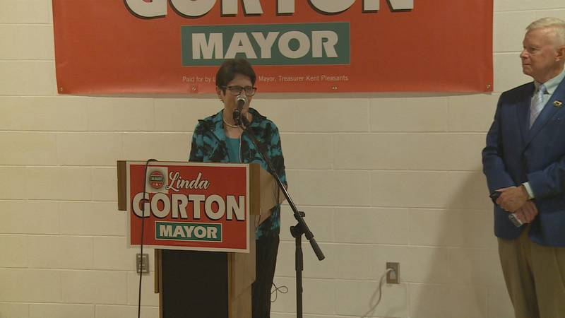 Mayor Linda Gorton made the official re-election bid announcement during a news conference...