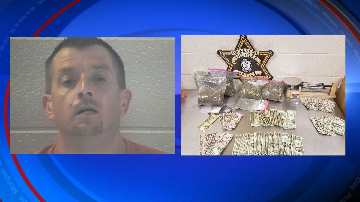 Jason Woods faces numerous charges after police found a large amount of drugs, cash, guns and...