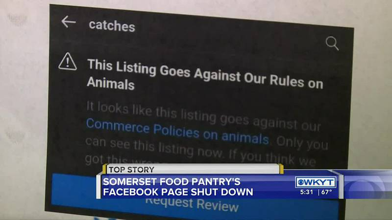 Ky. food bank's Facebook page removed for 'violating community standards'