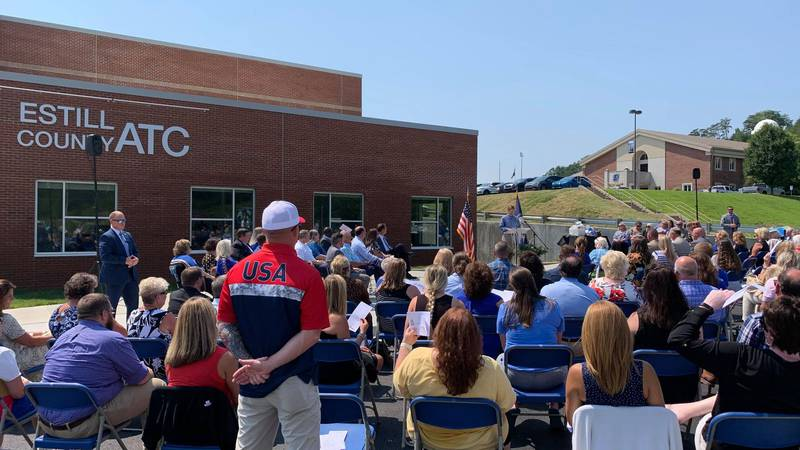 Estill County school officials host ribbon cutting ceremony, grand opening for new tech center