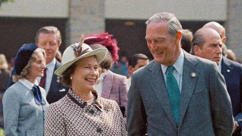 Ted Bassett III hosts Queen Elizabeth