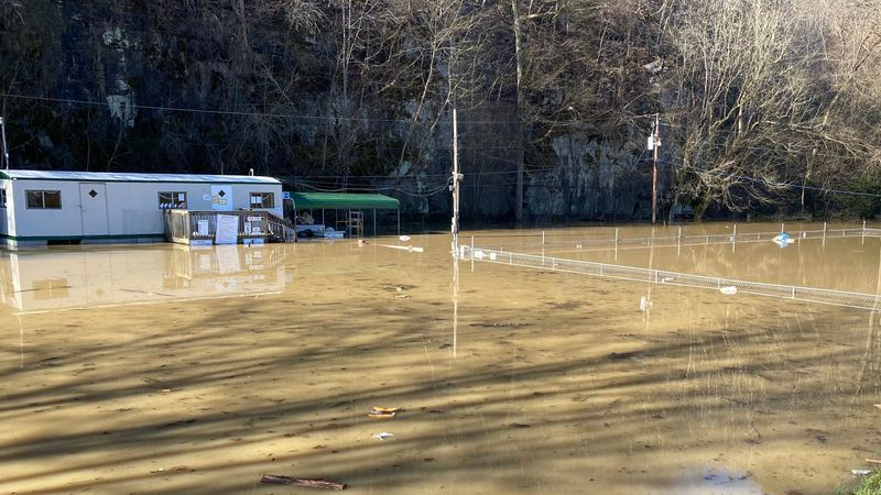 Around 60 people had to be evacuated from Camp Nelson RV park Sunday, Feb. 28.