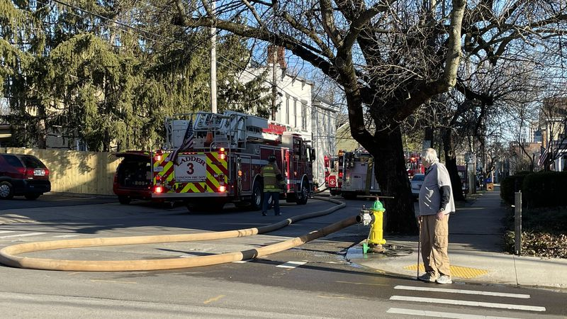 Firefighters say initial reports point to a possible gas explosion, but that will officially be...