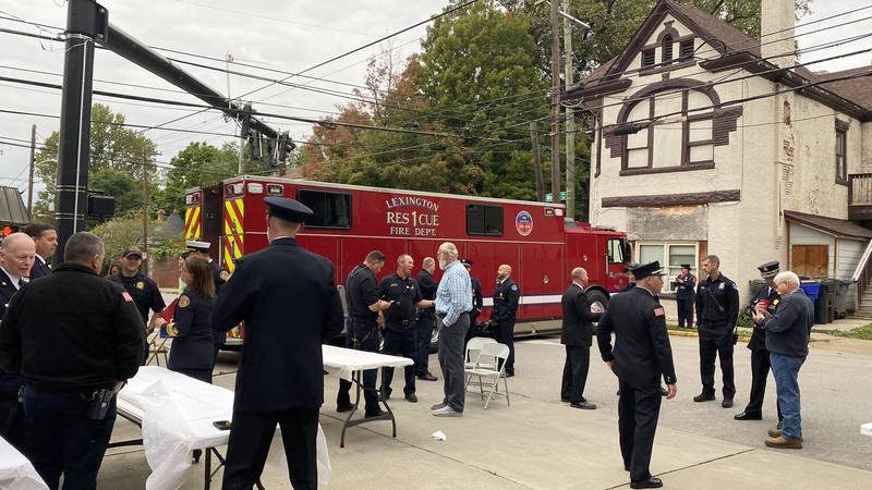They invited back current firefighters, retirees, and their families to celebrate the milestone.