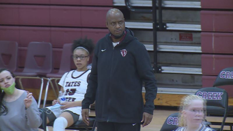 Tates Creek girls coach Matt Yates