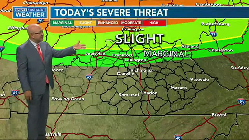 Strong to severe thunderstorms will roll into the region later today