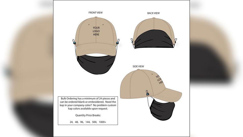 Lexington man's invention attaches mask to baseball cap