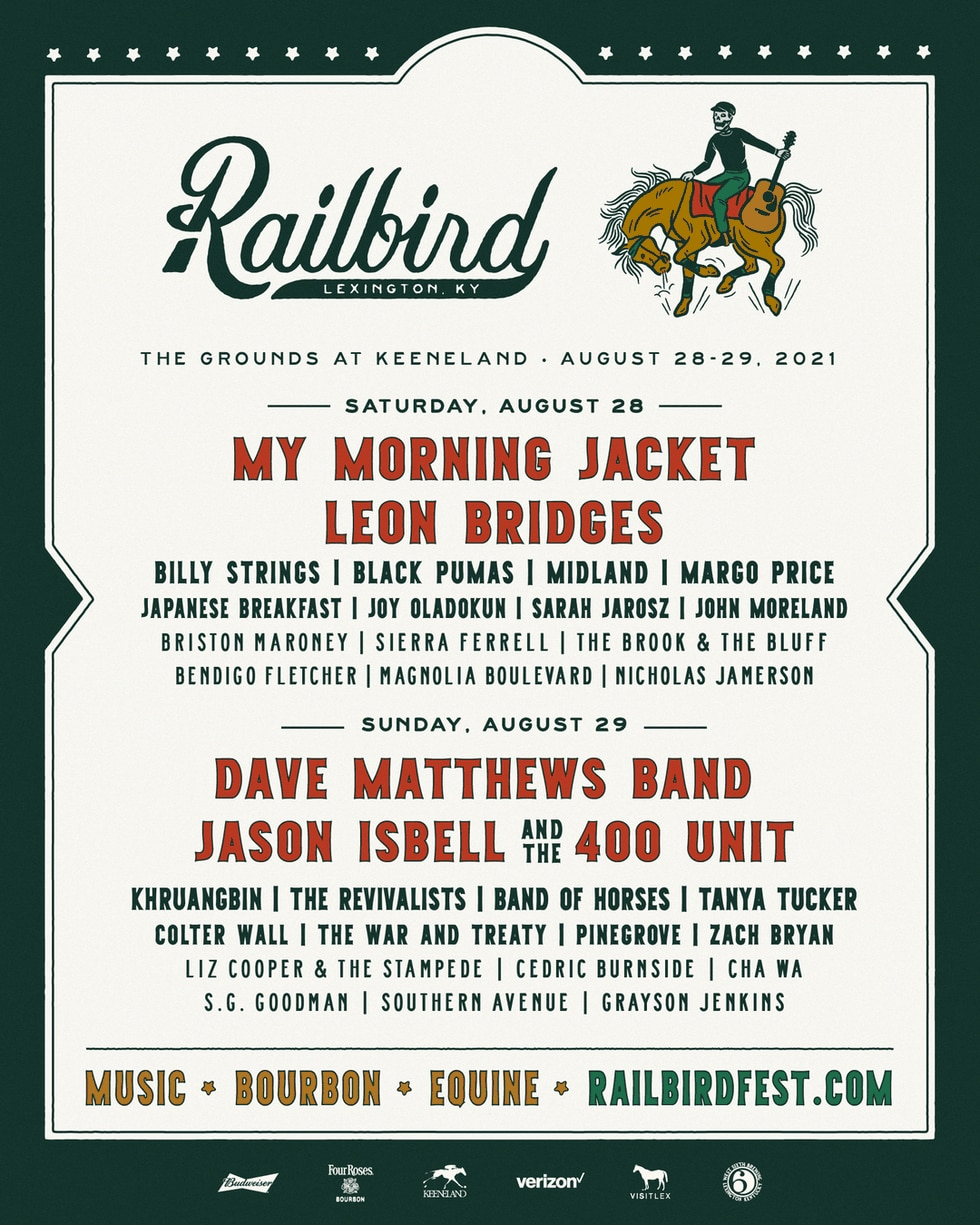 The Dave Matthews Band and My Morning Jacket will headline the two-day event.
