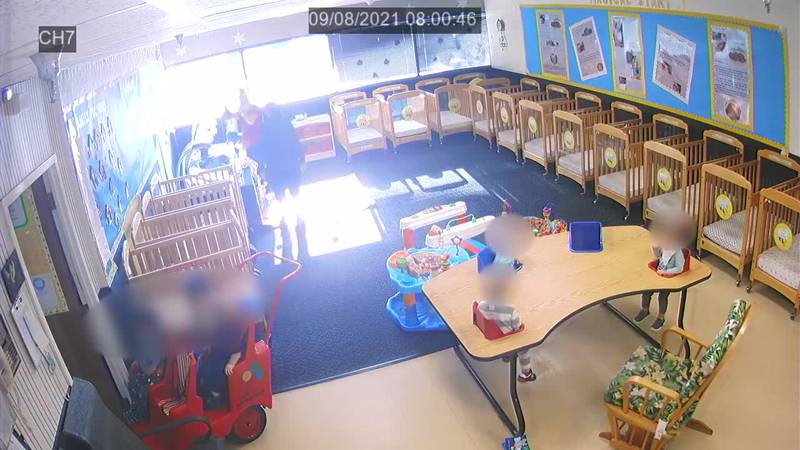 Deputies in Florida say surveillance video showed the moment where a child suffered a broken...