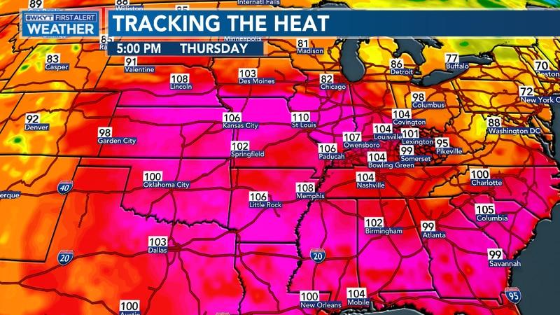 Heat builds across Kentucky